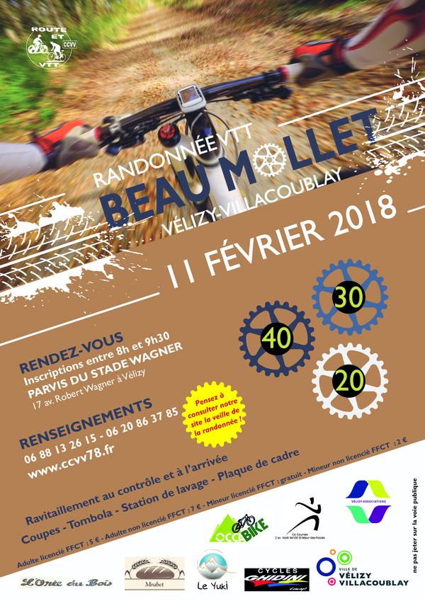 Affiche de la randonnée VTT du Beau Mollet 2018